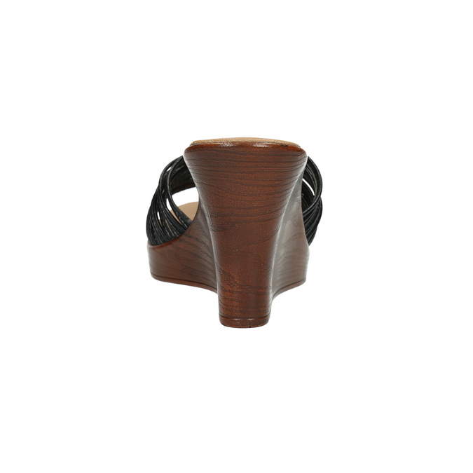 Dámské kožené nazouváky bata, černá, 766-6603 - 17