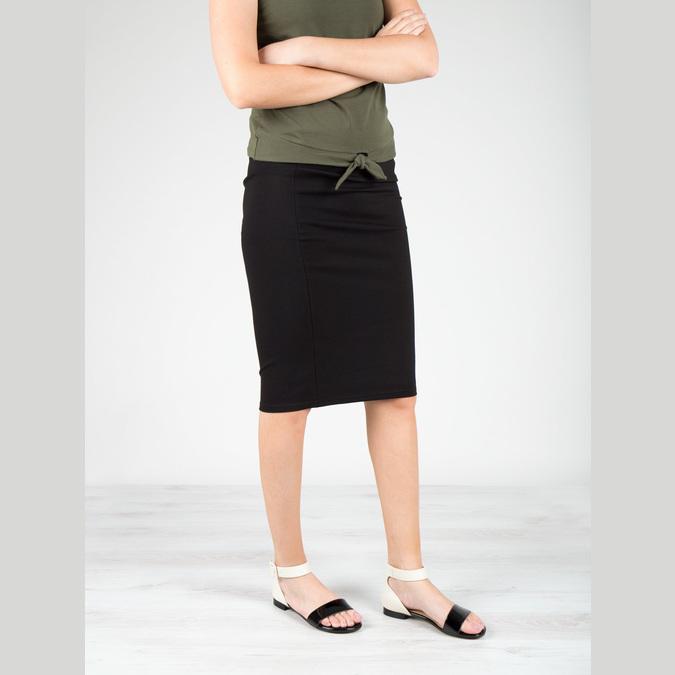 Lakované kožené sandály bata, černá, 568-6606 - 18