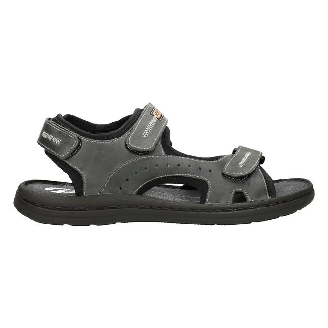 Pánské kožené sandály bata, šedá, 866-2628 - 26