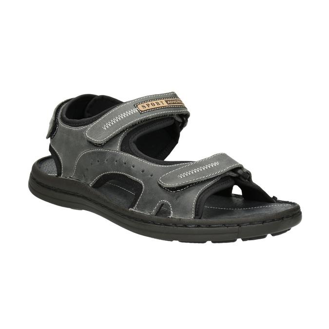 Pánské kožené sandály bata, šedá, 866-2628 - 13