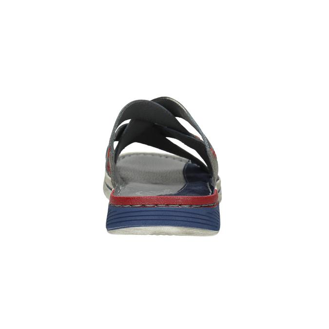 Kožené pánské nazouváky bata, modrá, 866-9621 - 17