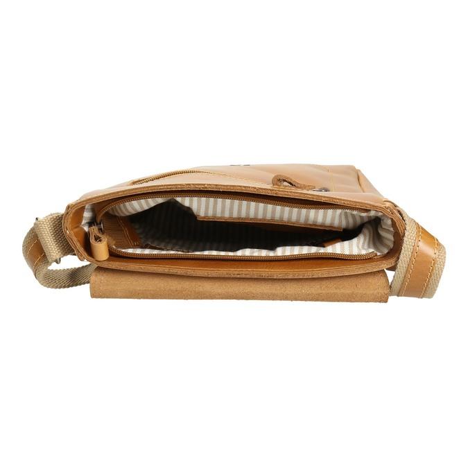 Pánská kožená Crossbody taška bata, hnědá, 964-3283 - 15