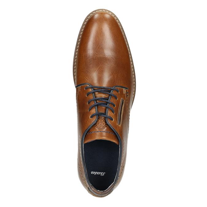 Ležérní kožené polobotky bata, hnědá, 826-3910 - 26