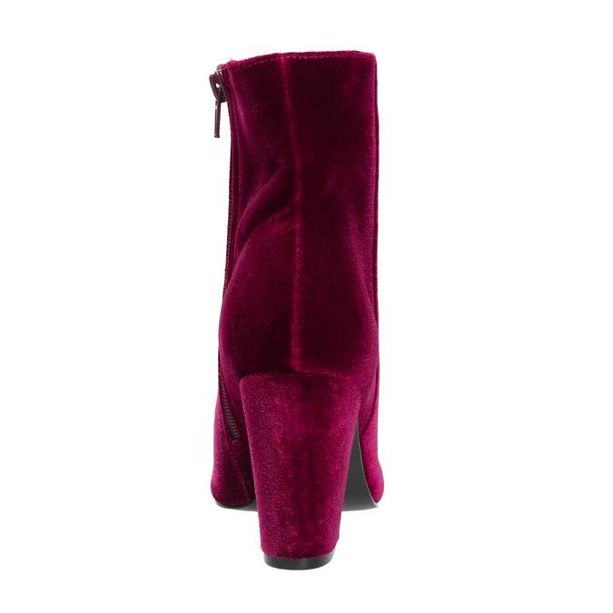 Dámské sametové kozačky bata, červená, 799-5616 - 17