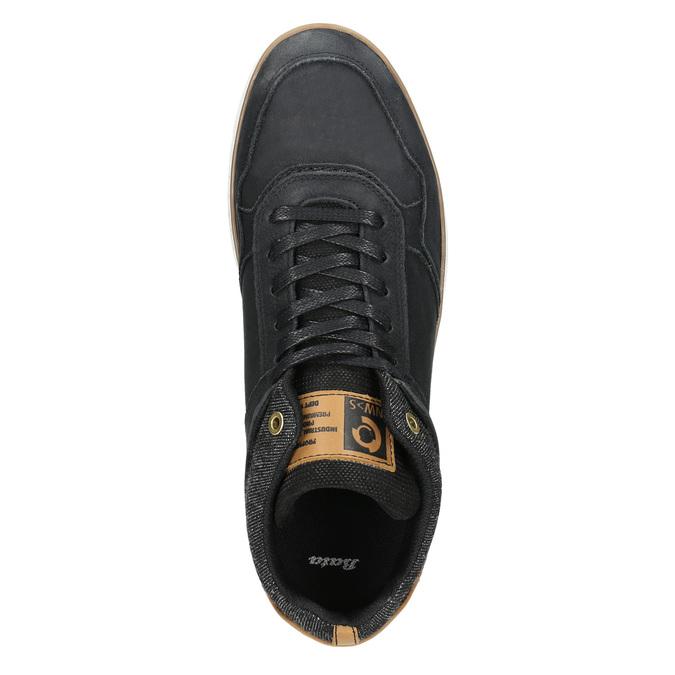 Kotničkové pánské tenisky z kůže bata, černá, 846-6641 - 26