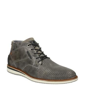 Kožená kotníčková obuv šedá bata, šedá, 826-2912 - 13