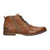 Kožená kotníková obuv se zipem bata, hnědá, 826-3911 - 15