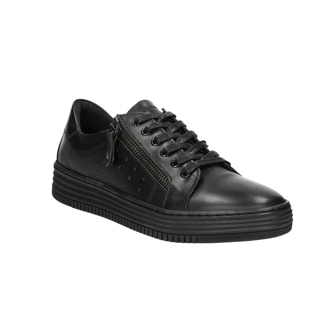 Dámské kožené tenisky bata, černá, 526-6630 - 13