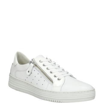 Kožené dámské tenisky se zipem bata, bílá, 526-2630 - 13