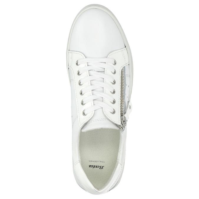 Kožené dámské tenisky se zipem bata, bílá, 526-2630 - 26