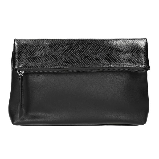 Crossbody kabelka s klopou bata, černá, 961-6501 - 17
