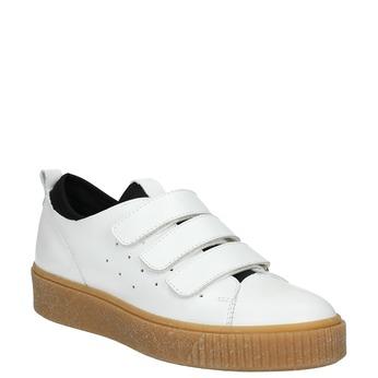 Kožené dámské tenisky na suché zipy bata, bílá, 526-1646 - 13