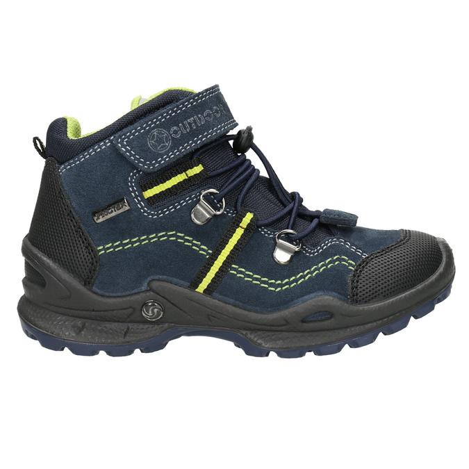 Kožená dětská kotníčková obuv mini-b, modrá, 413-9175 - 15