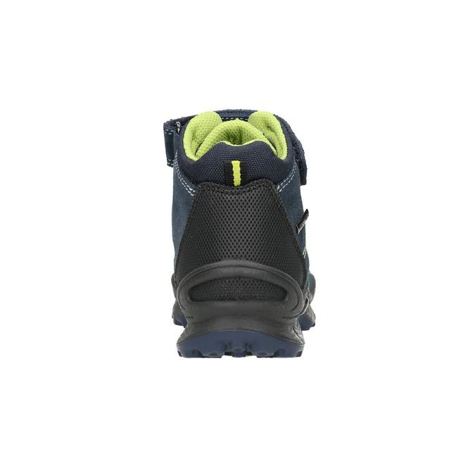 Kožená dětská kotníčková obuv mini-b, modrá, 413-9175 - 17