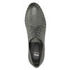 Kožené polobotky s kovovými cvoky bata, šedá, 526-9643 - 15