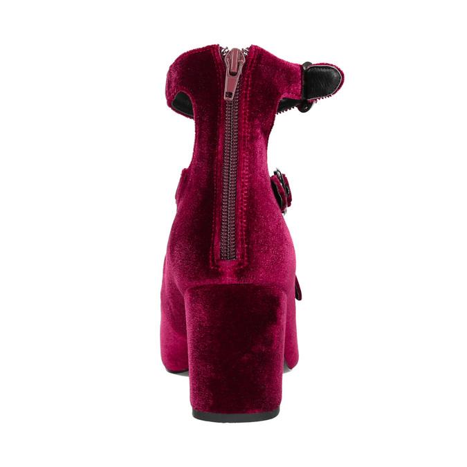 Vínové dámské lodičky s pásky bata, červená, 629-5632 - 17