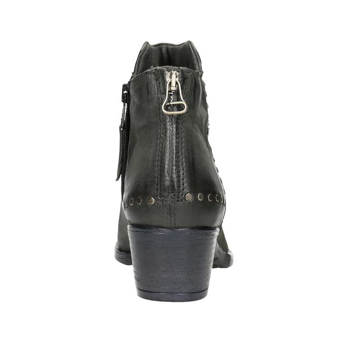 Kožené kotníčkové kozačky bata, šedá, 596-9659 - 16