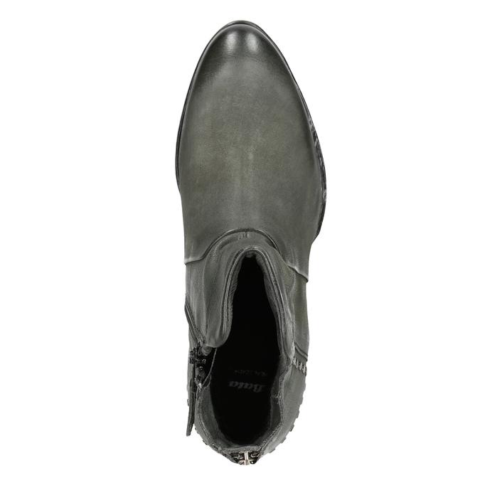 Kožené kotníčkové kozačky bata, šedá, 596-9659 - 15