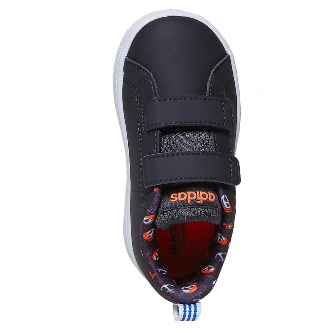 Dětské tenisky s potiskem adidas, černá, 101-6133 - 19