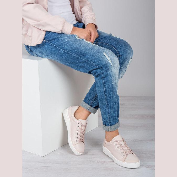 Dámské kožené tenisky bata, růžová, 526-5641 - 19