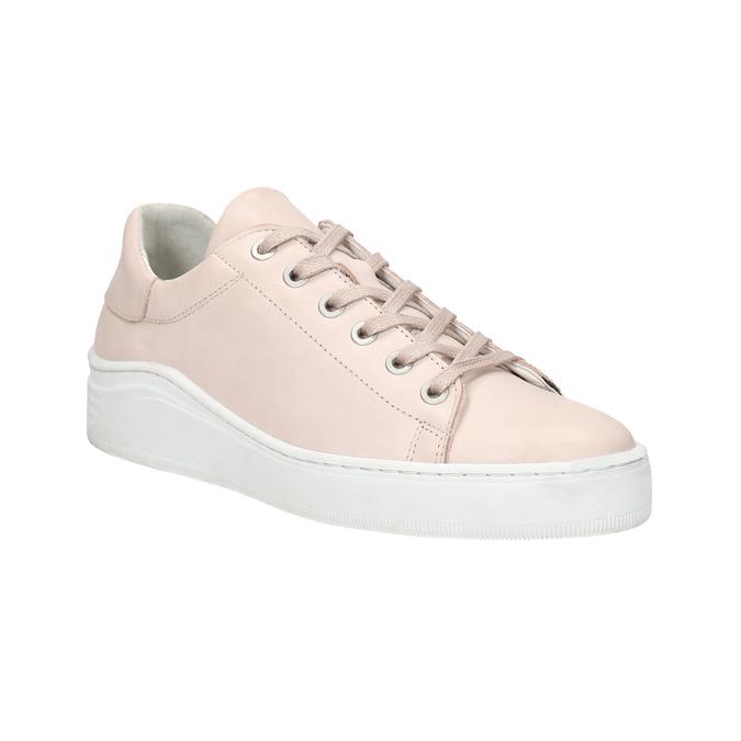 Dámské kožené tenisky bata, růžová, 526-5641 - 13