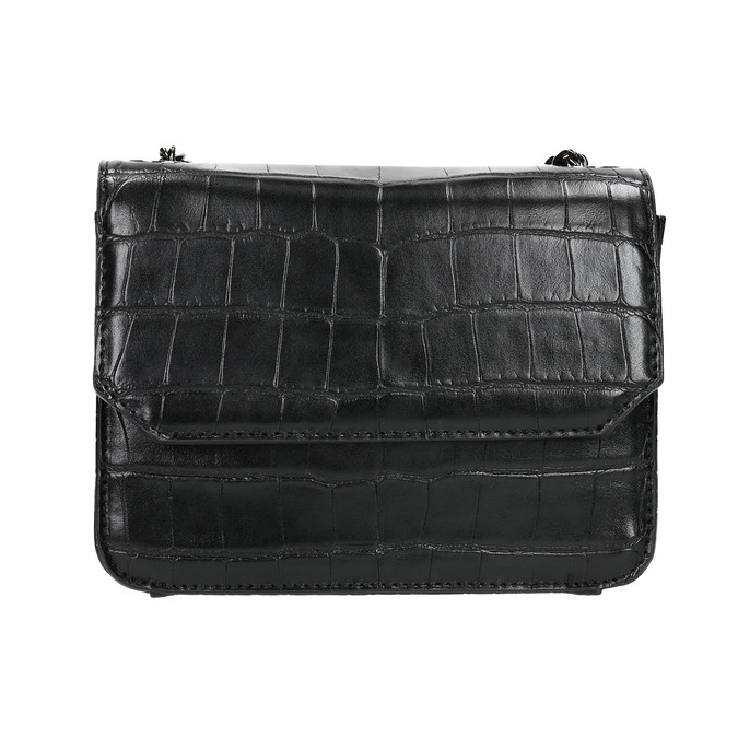 Dámská kabelka s řetízkem bata, černá, 961-6753 - 19