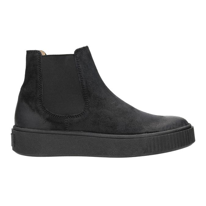 Dámská kožená kotníčková obuv bata, černá, 596-6671 - 26