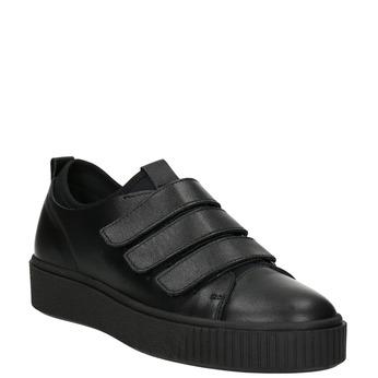 Černé kožené tenisky na suché zipy bata, černá, 526-6646 - 13