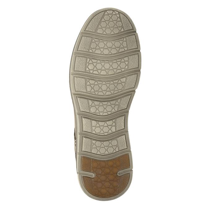 Kožené pánské polobotky weinbrenner, béžová, 846-8655 - 17