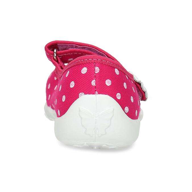 Domácí pantofle s puntíky mini-b, růžová, 379-5214 - 15