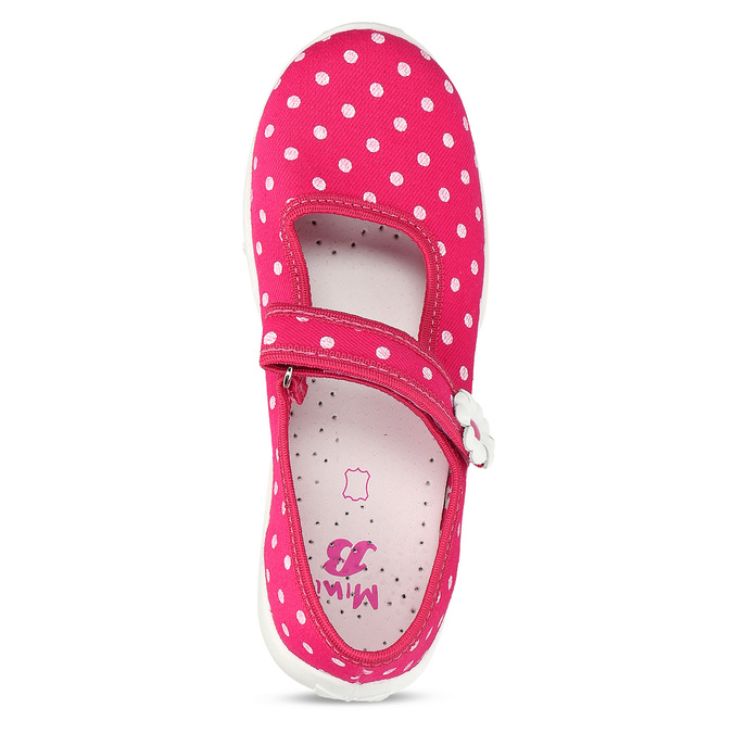 Domácí pantofle s puntíky mini-b, růžová, 379-5214 - 17