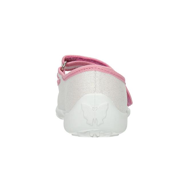 Dětská domácí obuv s mašličkou mini-b, bílá, 379-1214 - 17