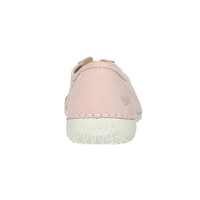 Dámské kožené tenisky weinbrenner, růžová, 526-5644 - 16