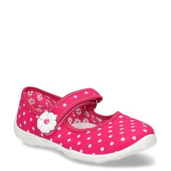 Domácí pantofle s puntíky mini-b, růžová, 379-5214 - 13