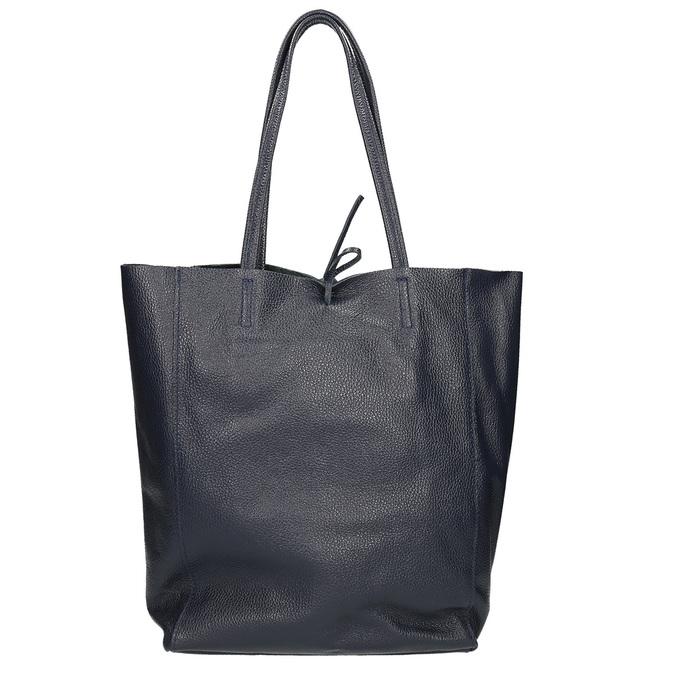 Kožená dámská Shopper kabelka bata, modrá, 964-9122 - 16