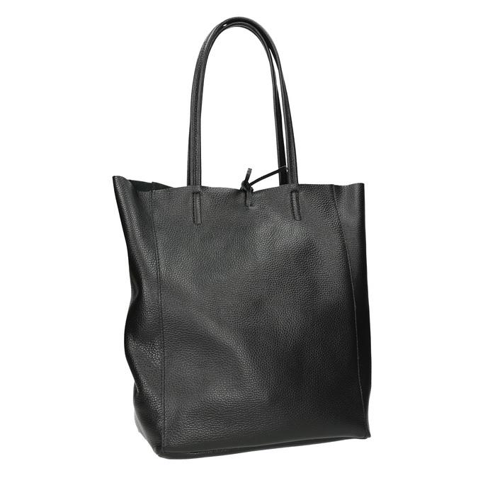 Kožená kabelka v Shopper stylu bata, černá, 964-6122 - 13