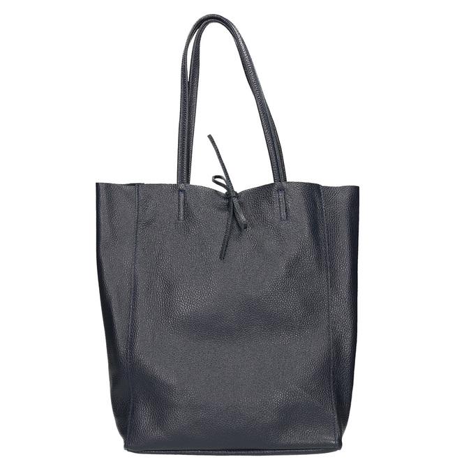 Kožená dámská Shopper kabelka bata, modrá, 964-9122 - 26