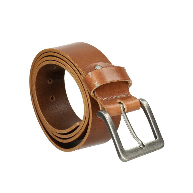 Kožený pánský opasek bata, hnědá, 954-3191 - 13