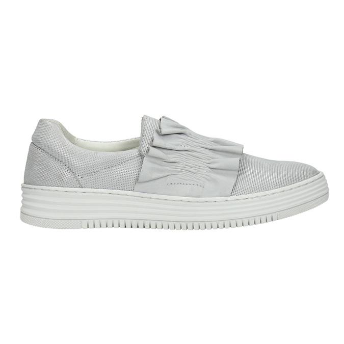Dámská kožená Slip-on obuv bata, šedá, 516-1614 - 15