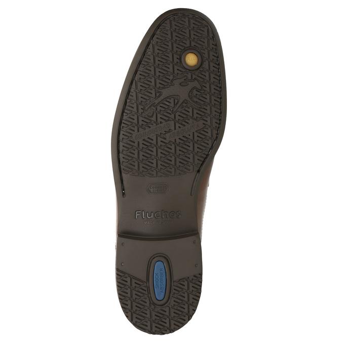 Kožená kotníčková obuv fluchos, hnědá, 826-3086 - 19