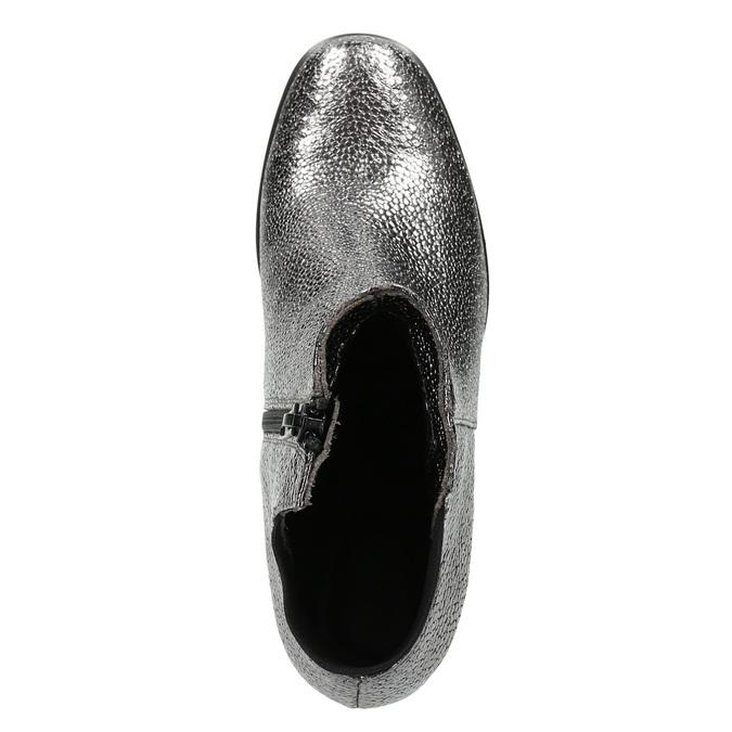 Stříbrné kotníčkové kozačky classico-and-bellezza, stříbrná, 716-1019 - 15