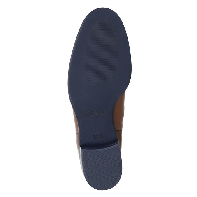 Kožené kotníčkové Chelsea Boots gabor, hnědá, 516-3036 - 17