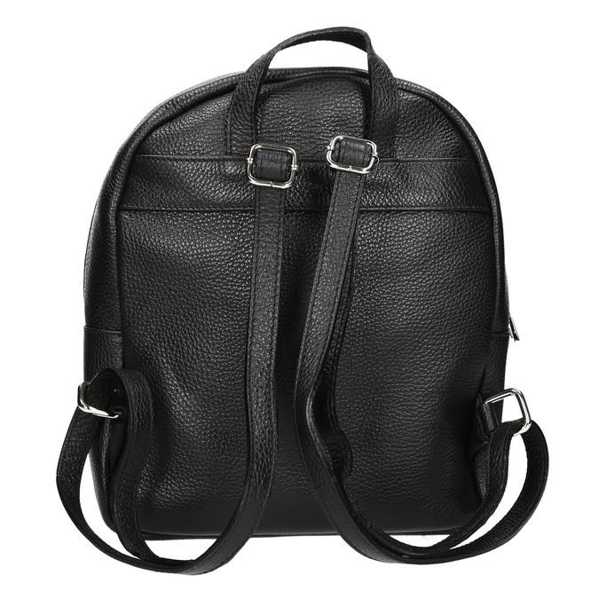 Kožený černý batoh bata, černá, 964-6240 - 16
