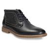 Pánská kotníčková obuv s prošitím bata, černá, 826-6614 - 13