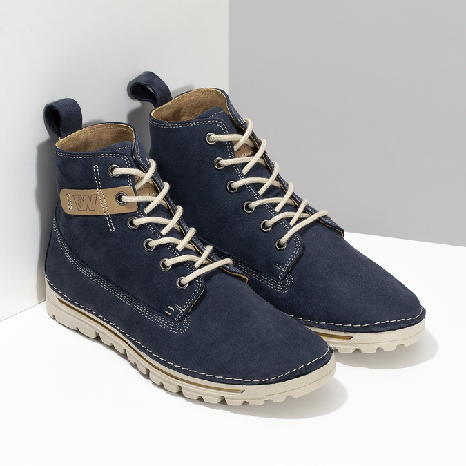 Kotníčková dámská obuv weinbrenner, modrá, 594-9323 - 26