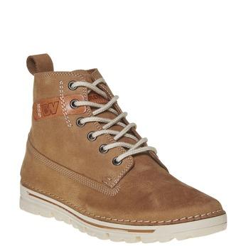 Dámská kožená kotníčková obuv weinbrenner, hnědá, 594-8323 - 13