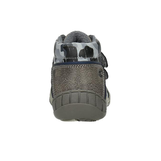 Chlapecká kotníčková obuv bubblegummers, šedá, 111-2618 - 17