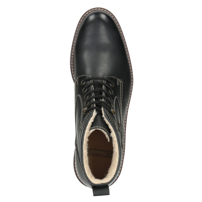 Kožená zimní obuv bata, černá, 894-6642 - 15