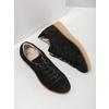 Kožené tenisky na výrazné flatformě bata, černá, 523-6604 - 19