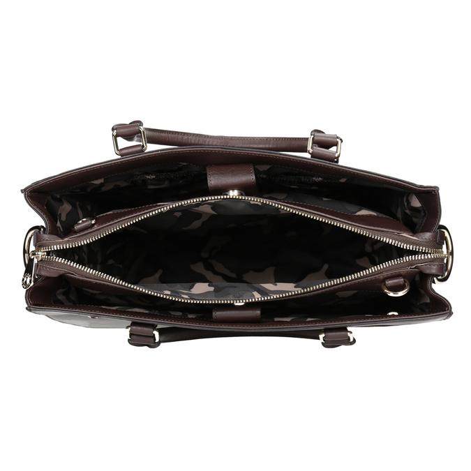 Kožená kabelka se zlatými detaily picard, hnědá, 966-4049 - 15